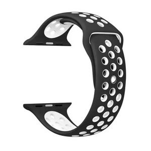 NEW Black White Sport Band For Apple Watch